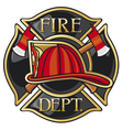 Fire department or firefighters maltese cross symb vector