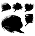 Speech bubble shapes drawn with a brush and paint vector