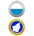 Button as a symbol san marino vector