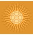 Mandala sun pattern vector