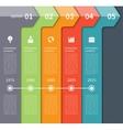 Modern timeline arrow infographics elements vector