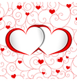 St valentine heart shape red love background vector