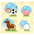 Funny farm animals vector