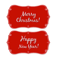 New year and christmas vintage badge vector