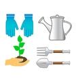Set tools - colorful garden utensil vector
