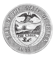 Oregon state seal vintage engraving vector
