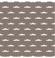 Tile hipster moustache white and brown background vector