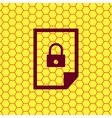 File locked icon symbol flat modern web design vector