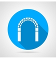 Circle icon for archway vector