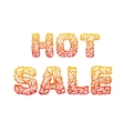 Fire hot sale text on a red background concept vector