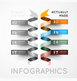 Infographic options with color ribbons vector