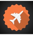 Travel airport airplane flat icon background vector