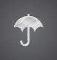 Umbrella sketch logo doodle icon vector