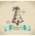 Hand drawn christmas tree design vector