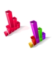 Two fluctuating bar graphs vector