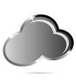 Cloud black icon vector