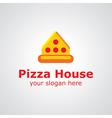 Pizza house logo vector
