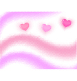Halftone wave with hearts vector