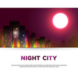 Night urban city background vector