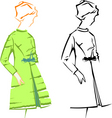 Retro fashion sketches vector