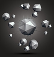 3d contemporary style abstract complicated object vector