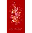 Christmas card balls vector