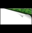White paper page with grass in curl vector