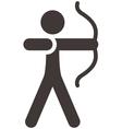 Archery icon vector