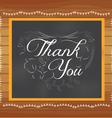 Thank you written on chalkboard vector