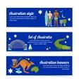 Australia banner set vector