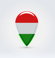 Hungarian icon point for map vector