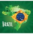 Poster soccer world game design concept brazil vector