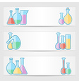 Banners with laboratory test tubes vector
