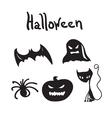 Set of halloween characters for desigen vector