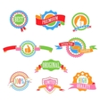 Color badges and ribbons vector