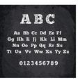 Chalked alphabet vector