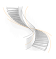 Sketch of a spiral staircase vector