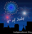 4th of july fireworks background vector