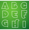 Connections alphabet font set 1 a to i vector