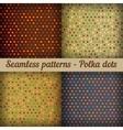 Polka dots set of seamless patterns abstract vector