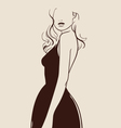Beautiful woman hand drawn vector