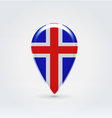 Icelandic icon point for map vector
