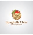 Spaghetti clew logo vector
