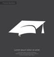 Education premium icon white on dark background vector