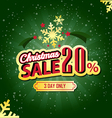 Christmas sale 20 percent typographic background vector