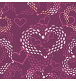 Seamless pink valentines day background vector