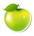 Green apple label vector