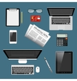 Modern detailed icons collection vector