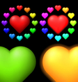 Set of coloured hearts vector