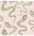 Seamless pattern with snakes vector